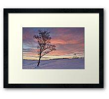 Winter Sunset - Waldridge Fell, Country Park. UK Framed Print