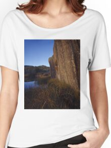 Rock Face And Grass Women's Relaxed Fit T-Shirt
