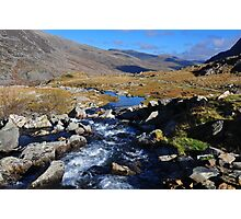 A Mountain Stream in Snowdonia Photographic Print