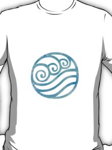 Water Tribe Watercolor Symbol (on black) T-Shirt