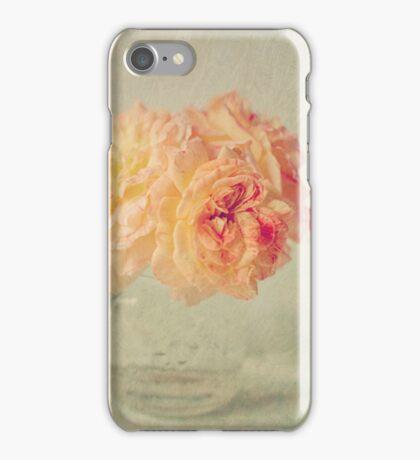 Textured Peach Roses  iPhone Case/Skin