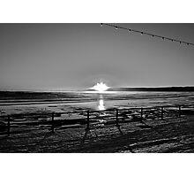 Filey 8am sunrise b&W Photographic Print