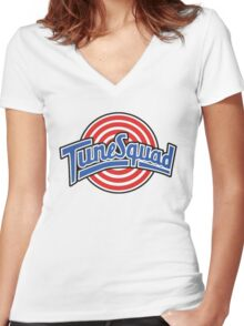 Tune Squad - Space Jam Women's Fitted V-Neck T-Shirt