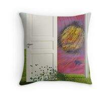 Beyond the door Throw Pillow