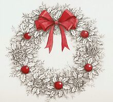 Holiday Wreath by lizblackdowding