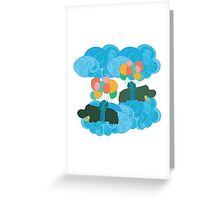 Two Hippos in the Sky Greeting Card