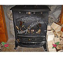 Toasty Christmas Card Photographic Print