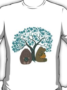 Two Hippos Under The Tree. T-Shirt