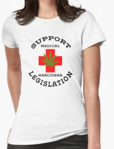 Support Medical Marijuana Legislation Womens Fitted T-Shirt
