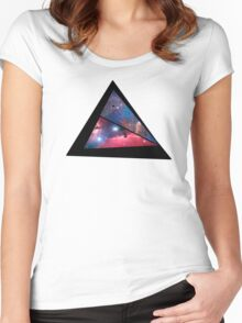 Abstract triangle Women's Fitted Scoop T-Shirt