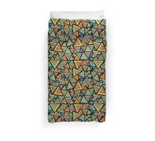 Colorful triangles' world Duvet Cover