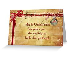 Christmas Music Greeting Card