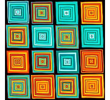 Hand drawn colorful funny squares  Photographic Print