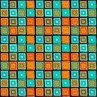 Hand drawn colorful funny squares  by kira-culufin