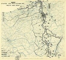 World War II Twelfth Army Group Situation Map October 17 1944 by allhistory