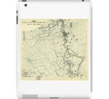 World War II Twelfth Army Group Situation Map October 17 1944 iPad Case/Skin