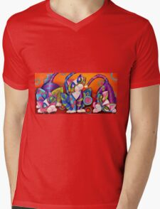 Party Animals Kitty Style Mens V-Neck T-Shirt