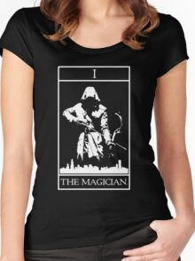 THE MAGICIAN - T'ARROW CARD Women's Fitted Scoop T-Shirt