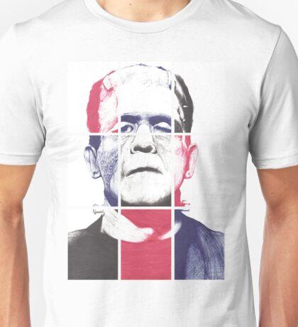 Frankenstein's Monster, A ball point pen portrait.  Unisex T-Shirt