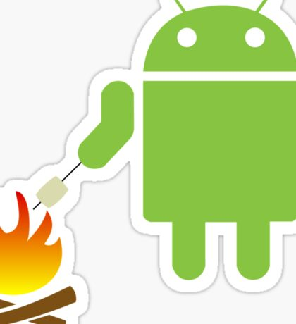 Android eats a marshmallow Sticker