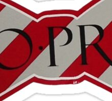 so pro southern proper bow tie red and white Sticker