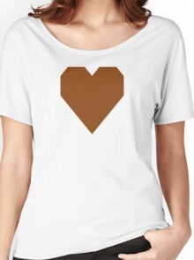 Saddle Brown  Women's Relaxed Fit T-Shirt