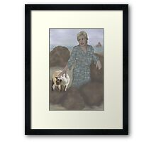 Jasmine goes to the beach with Aunt Pam Framed Print