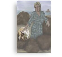 Jasmine goes to the beach with Aunt Pam Canvas Print