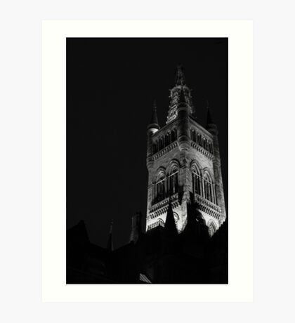 Tower of the University of Glasgow Art Print