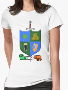 Coat Of Arms - Ireland - Shield and Sword Womens Fitted T-Shirt