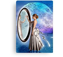 The Snow Fairy and the Mirror Canvas Print