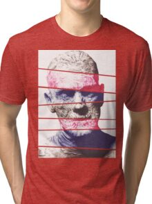 Mummy, A ball point pen portrait Tri-blend T-Shirt