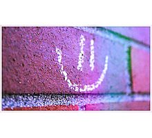Smiley Found Photographic Print