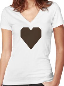 Zinnwaldite Brown Women's Fitted V-Neck T-Shirt