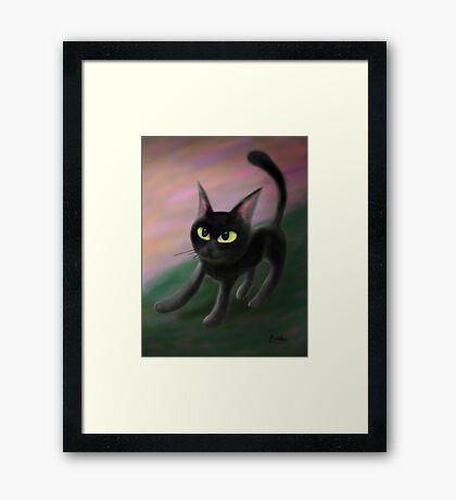 Kitty in riverside Framed Print