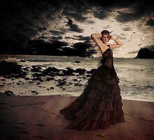Distraught by the Ocean by dijjiartstudios