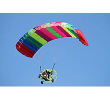 Ultra-lite aircraft with very man made wings! Photographic Print