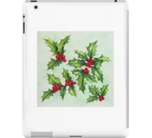 Watercolour holly and berries iPad Case/Skin