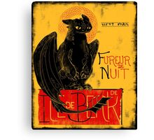 Fury of the Night - Vintage Edition Canvas Print