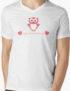 Guess Whoooo Loves You?  Mens V-Neck T-Shirt