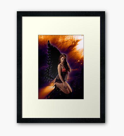 Kneeling Fairy enjoying the sunshine Framed Print