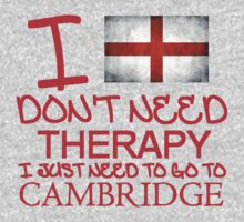 I Don't Need Therapy, I Just Need To Go To Cambridge T Shirt T-Shirt