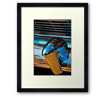 A section from a rear 1954 Chevrolet chrome bumper Framed Print