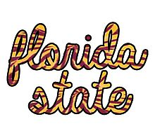 Florida State Tie Dye Script Photographic Print