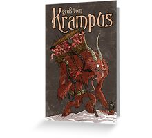 Grüß Vom Krampus Greeting Card