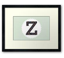 Letter Z Framed Print