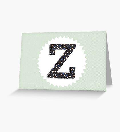 Letter Z Greeting Card
