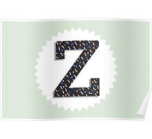 Letter Z Poster