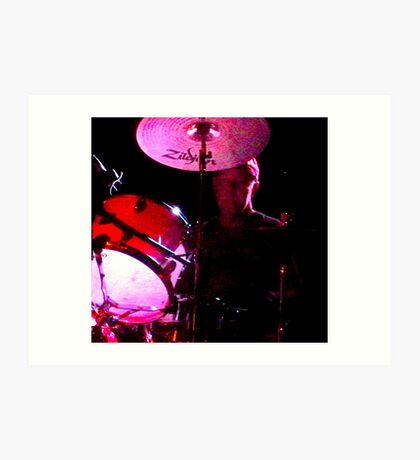 Cliffy on drums Art Print