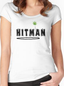 "Marijuana ""Hitman"" Women's Fitted Scoop T-Shirt"